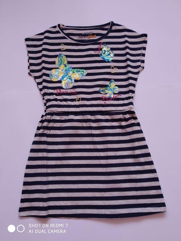 Dívčí letní šaty Kugo modré