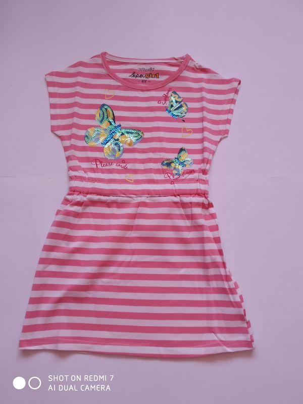 Dívčí letní šaty Kugo růžové