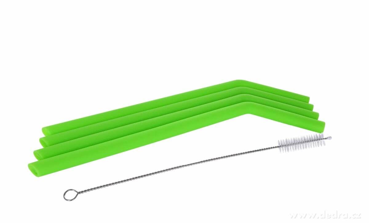 Ekoslámky silikonové s kartáčkem 4ks, průměr 1cm Dedra