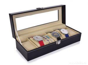 Luxusní kazeta na hodinky/náramky 6 přihrádek Dedra
