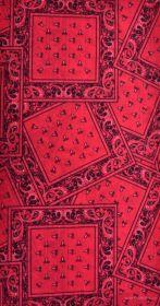 Multifunkční šátek nejen na sport - červený s ornamenty