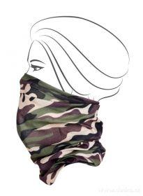 Multifunkční šátek nejen na sport - khaki maskáčový
