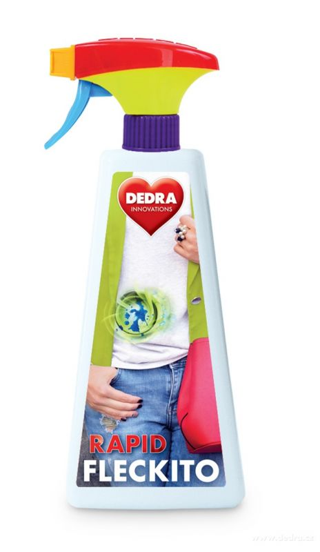 Odstraňovač skvrn Fleckito 3minutový sprej na skvrny před praním 500ml Dedra