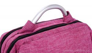 Pevný stylový batoh BUSINESS BAG, strawberry Dedra