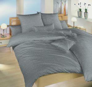 Povlečení bavlna Dadka Vracov - Hvězdička bílá na šedé 140x200  90x70