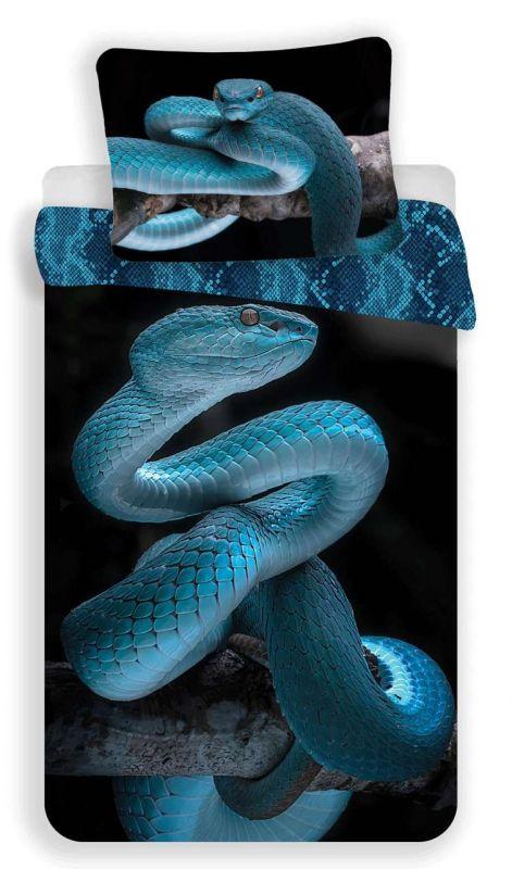 Povlečení bavlna fototisk - Had 40x200 90x70 Jerry Fabrics