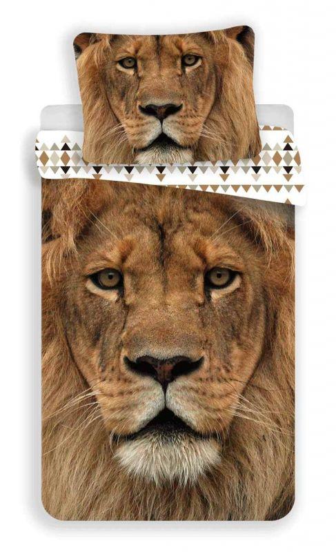 Povlečení bavlna fototisk - Lev 140x200 90x70 Jerry Fabrics