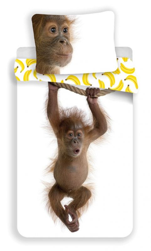 Povlečení bavlna fototisk - Orangutan 140x200 90x70 Jerry Fabrics