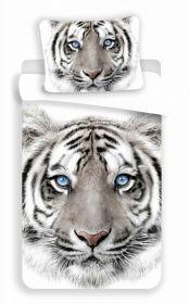 Povlečení bavlna fototisk - Tygr bílý 140x200  90x70