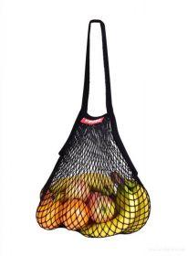 Síťovka stylová nákupní taška černá