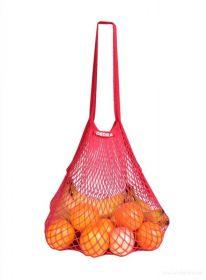 Síťovka stylová nákupní taška červená