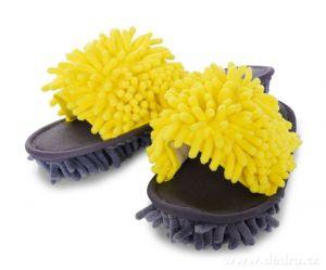 Úklidové botky - šedo-žluté vel. 41-45