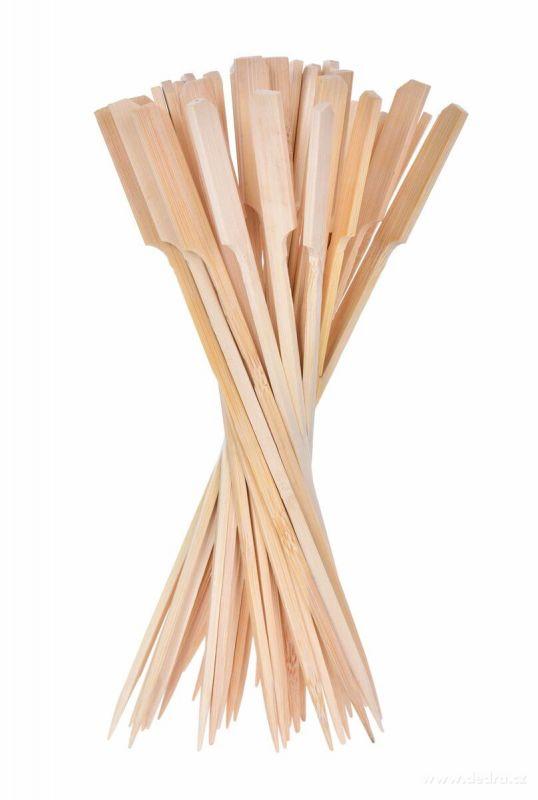Velká napichovátka z bambusu s rozšířeným koncem GoEco 50ks Dedra