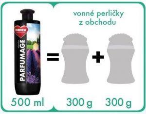 Parfumage -parfémovaný superkoncentrát Platinum Future men 750ml Dedra
