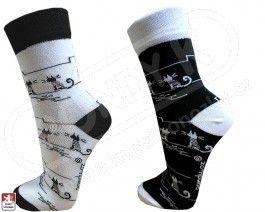 Dámské luxusní ponožky KOČKY sada 2 páry PONDY K