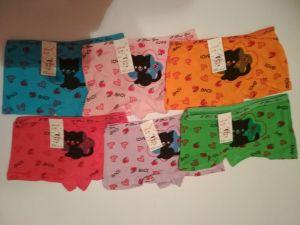 Dívčí spodní kalhotky s nohavičkou černá kočka. vel. 3-5let