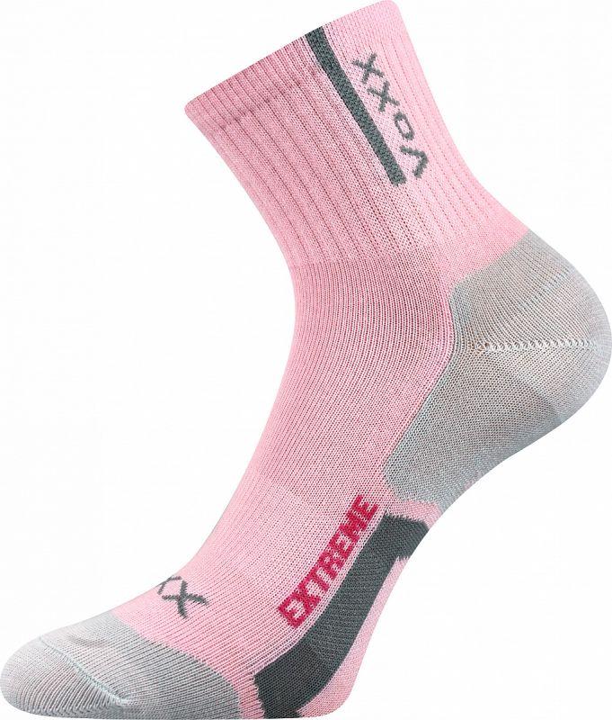 Dívčí sportovní ponožky Josífek mix B světle růžové Voxx