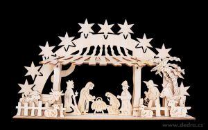 Vánoční dekorace dřevěný betlém sestav a vymaluj si sám  - stavebnice