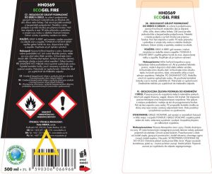 Ekologický gelový podpalovač do krbů a grilů ECO GEL FIRE 500ml Dedra