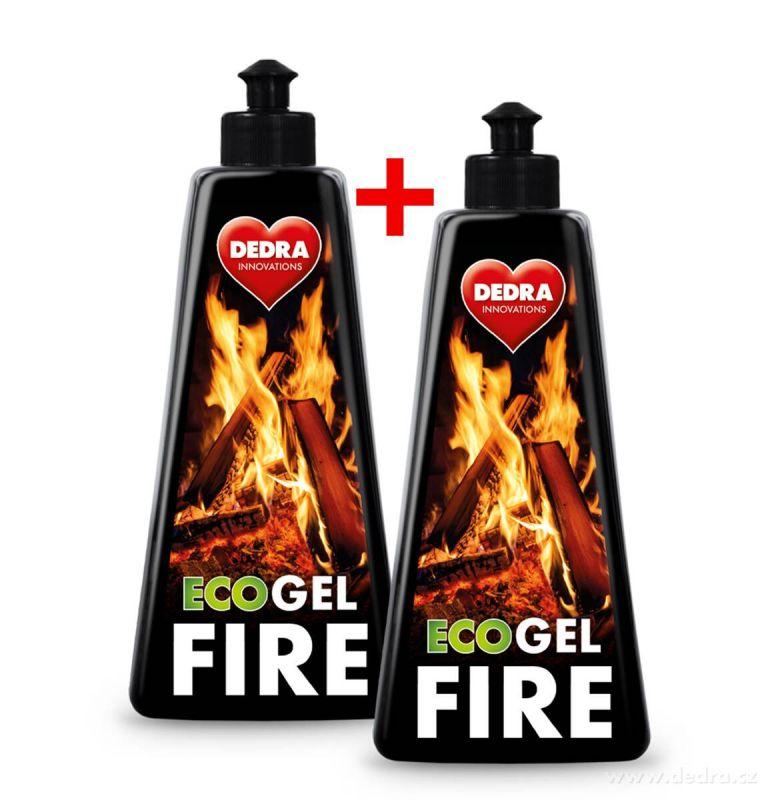 Ekologický gelový podpalovač do krbů a grilů ECO GEL FIRE sada 1+1 (500ml + 500ml) Dedra