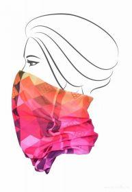 Multifunkční šátek nejen na sport - barevné káro