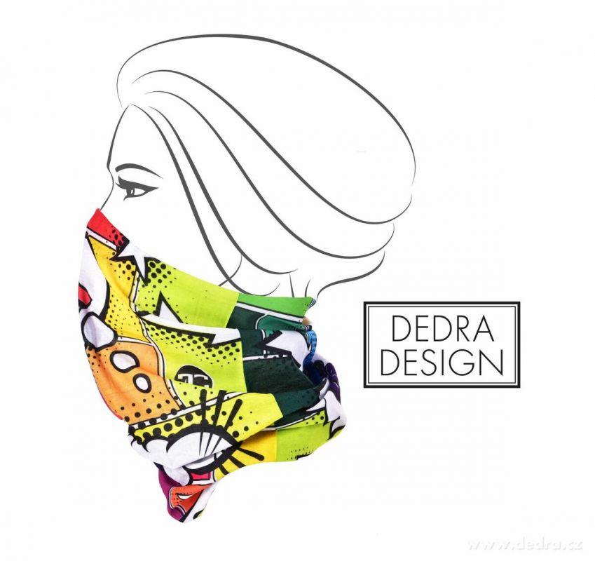 Multifunkční šátek nejen na sport - comics Dedra