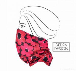 Multifunkční šátek nejen na sport - daisy flowers