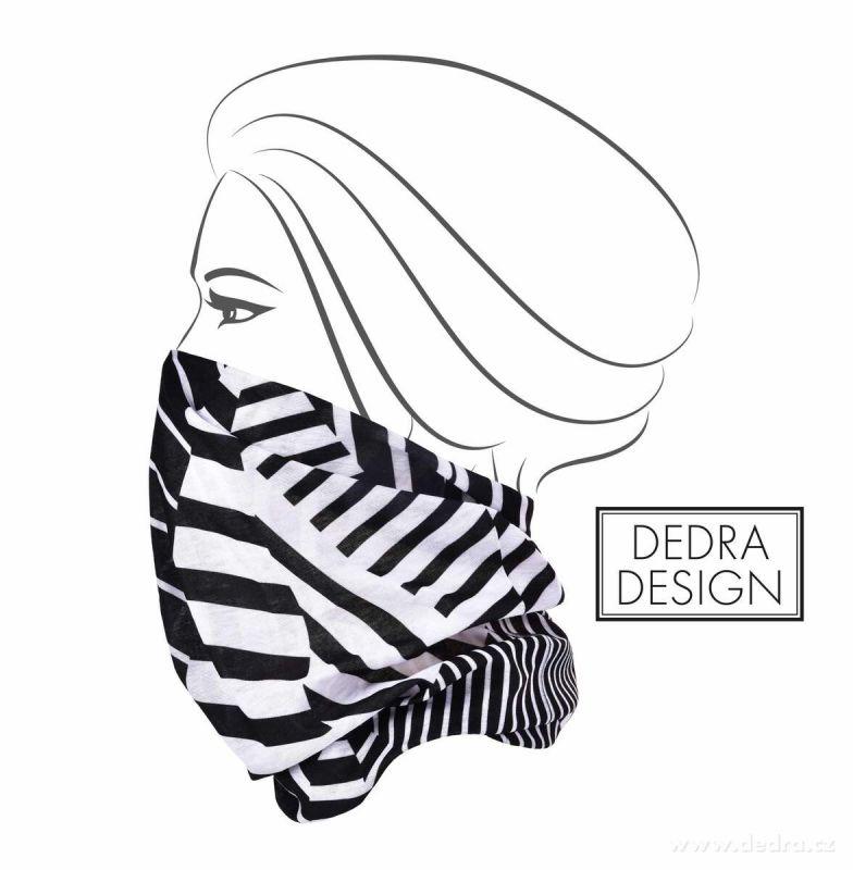 Multifunkční šátek nejen na sport - geometry Dedra