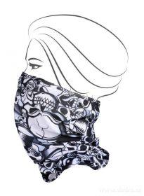 Multifunkční šátek nejen na sport - lebky