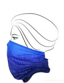 Multifunkční šátek nejen na sport - modré tóny
