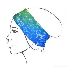 Multifunkční šátek nejen na sport - motiv kol