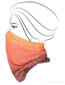 Multifunkční šátek nejen na sport - oranžové tóny
