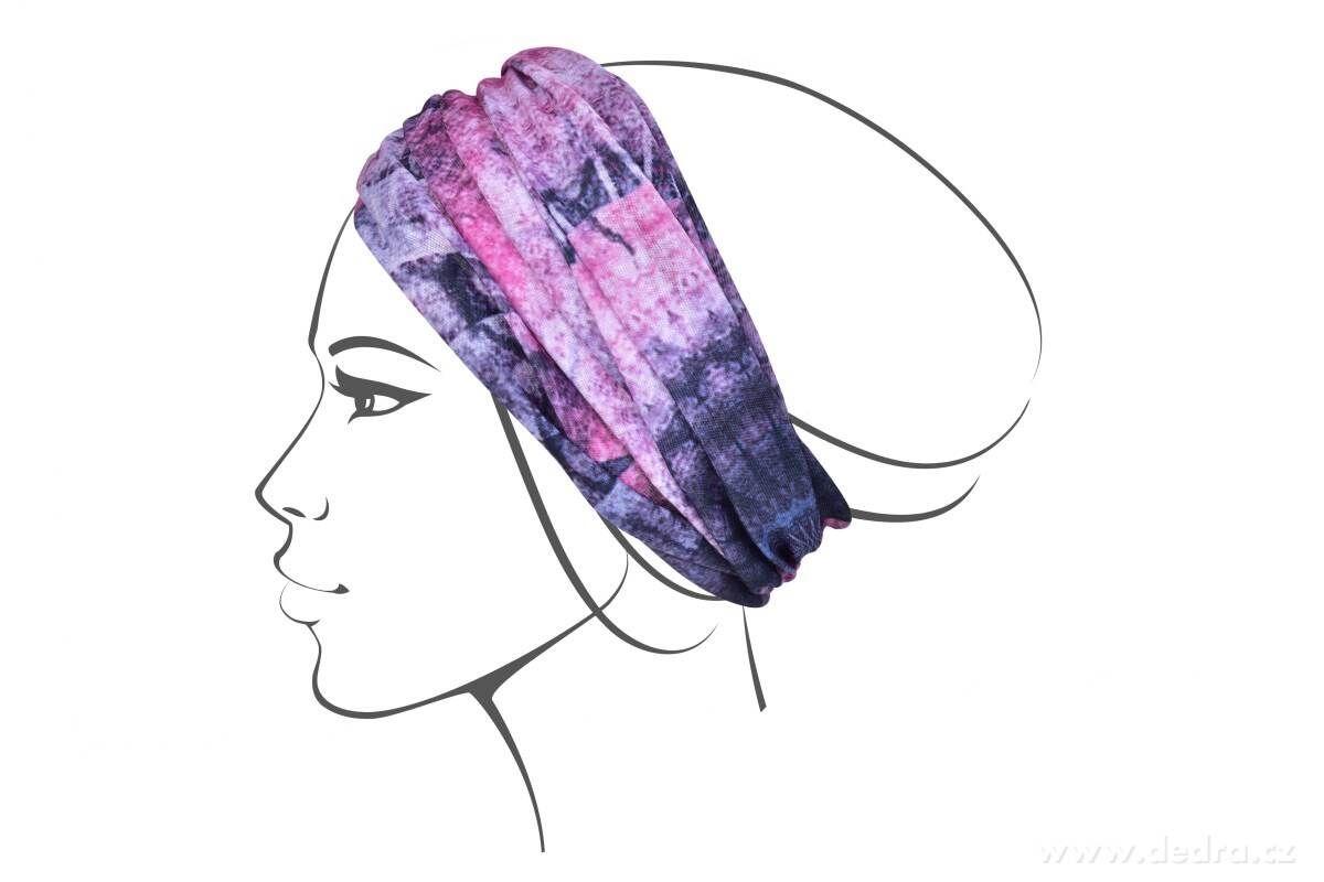 Multifunkční šátek nejen na sport -orient fuchsiový Dedra