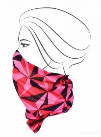 Multifunkční šátek nejen na sport - růžové origami