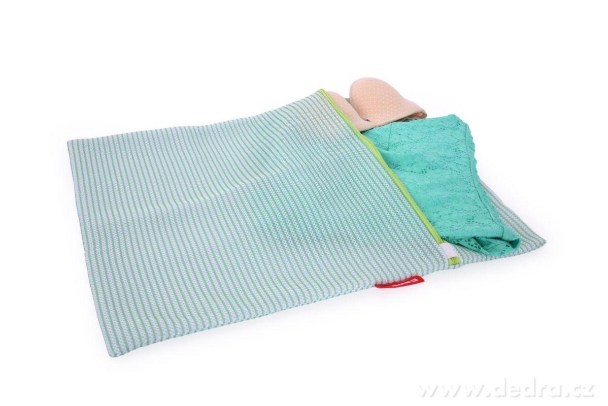 Sáček na praní jemného prádla XXL 47x60cm odolná sendvičová síťovina, na zip Dedra