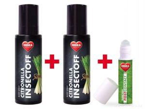 Sada Insectoff body spray - spej proti klíšťatům a hmyzu 2+1 Zdarma