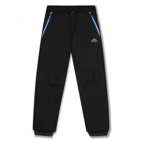 Softshellové kalhoty zateplené Kugo černé (modré zipy)