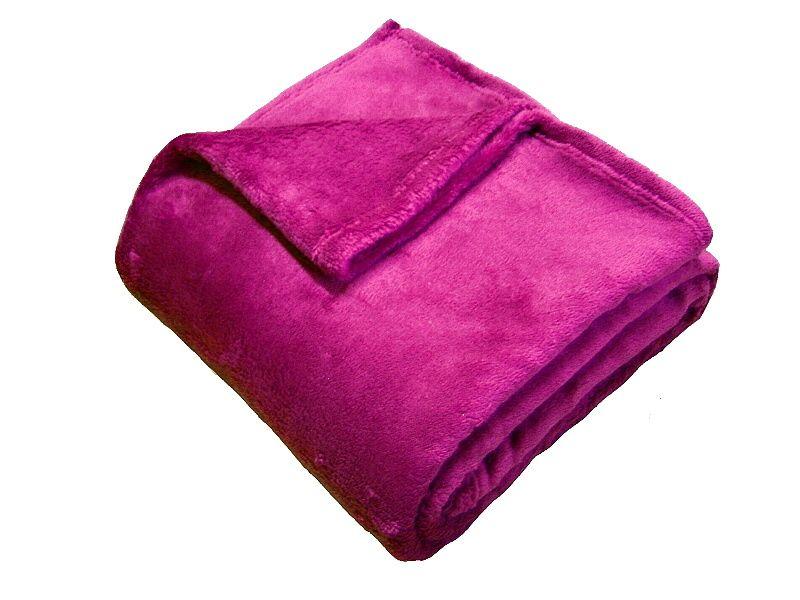 Super soft deka Dadka - malinová, 150/200cm