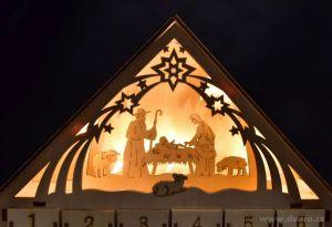 Vánoční dekorace - dřevěný adventní kalendář Dedra