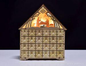 Vánoční dekorace - dřevěný adventní kalendář