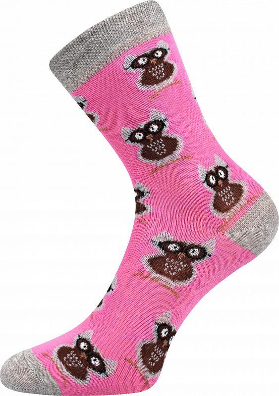Veselé dívčí ponožky SOVY Boma
