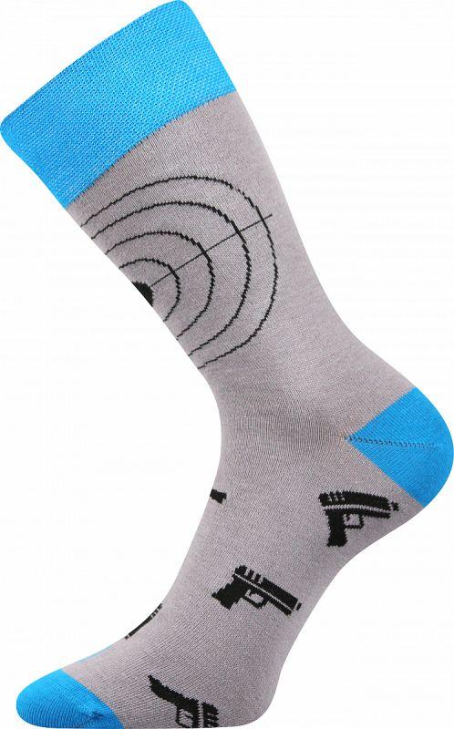 Veselé ponožky BICYKL sv.šedá Lonka