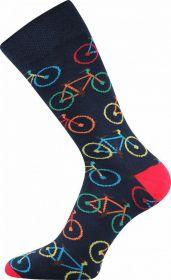 Veselé ponožky BICYKL tmavě modrá Lonka