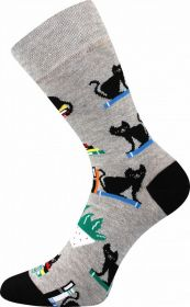 Veselé ponožky ČERNÁ KOČKA Lonka