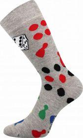Veselé ponožky ČLOVĚČE NEZLOB SE Lonka