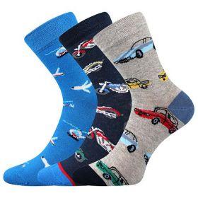 Veselé chlapecké ponožky DOPRAVA Boma - 3 páry