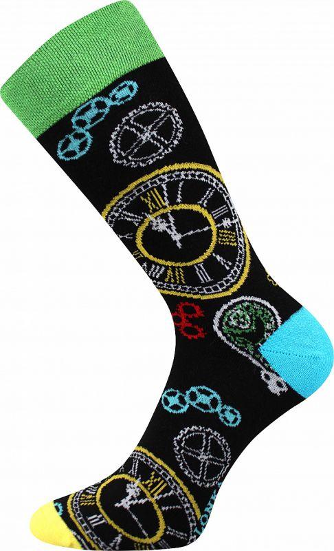 Veselé ponožky HODINY Lonka