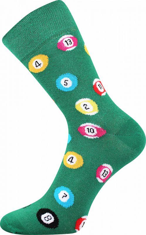 Veselé ponožky KULEČNÍK Lonka