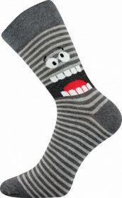 Veselé ponožky PŘÍŠERKY šedé Lonka