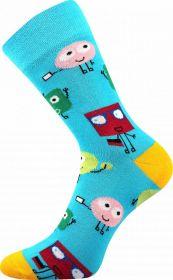 Veselé ponožky PŘÍŠERKY sv. modré Lonka